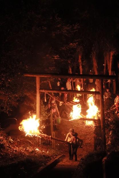 愛宕神社の松明祭り いわき