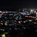 084 かみね公園 頂上展望台からの夜景 日立市