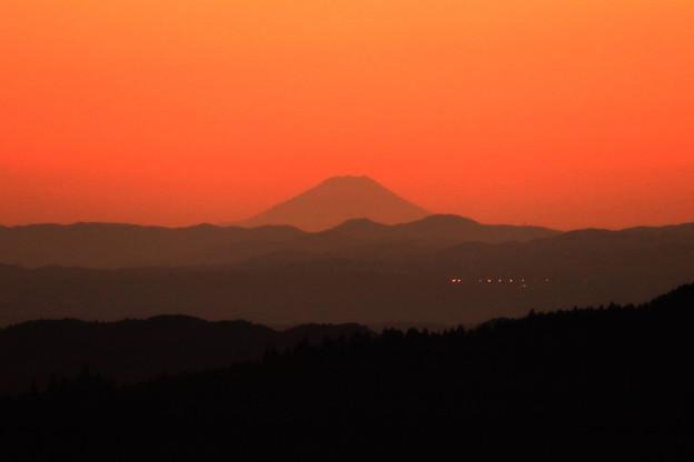 408 きららの里からの富士山 夕やけ編
