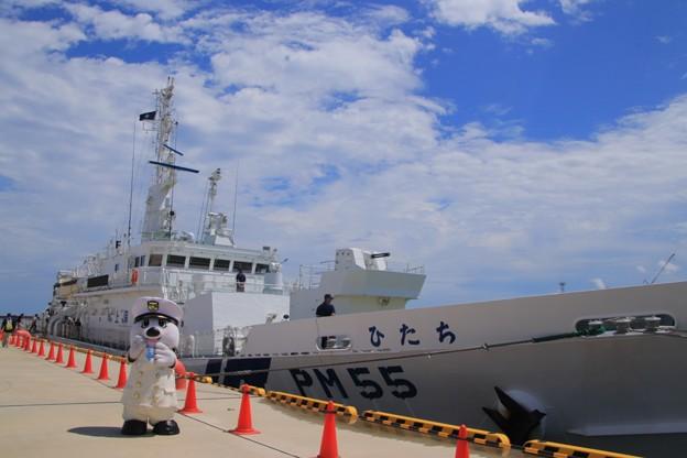 Photos: 『うみまる』くんと巡視船ひたち