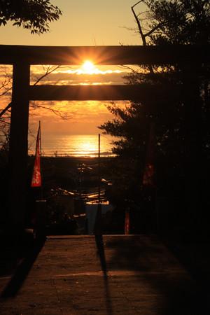 703 会瀬鹿嶋神社の初日の出