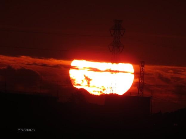 神秘的な朝陽♪