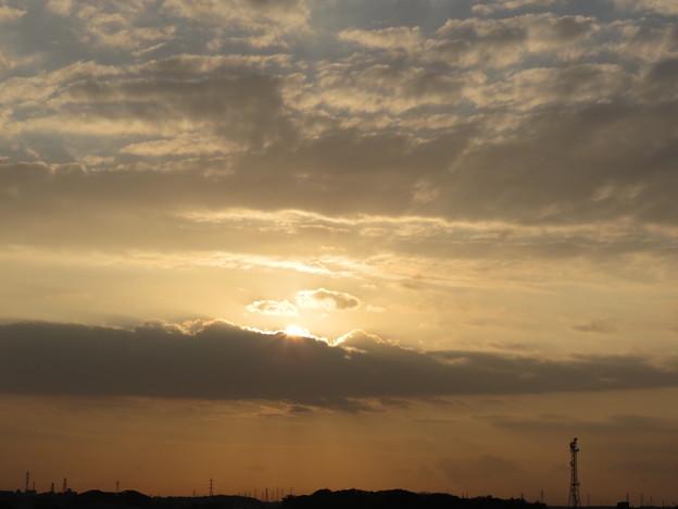 朝陽が見え始めました♪