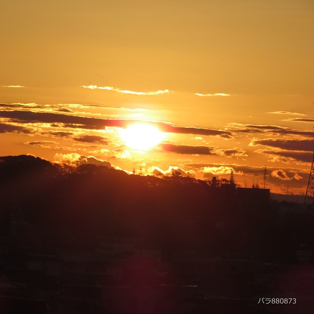 6時39分の朝陽!