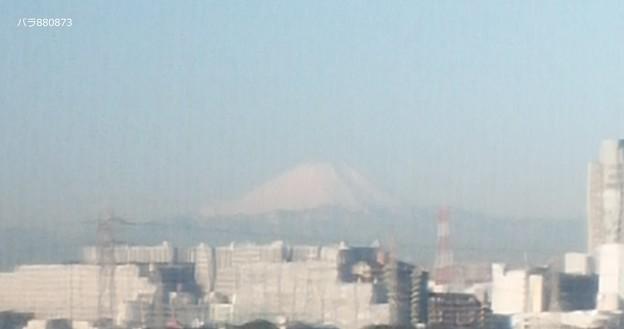 病室から富士山を見る
