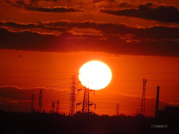 Photos: 12日のまんまるに見えた朝陽♪