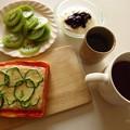 朝食の準備が出来ました♪