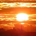 雲間に輝く朝陽♪