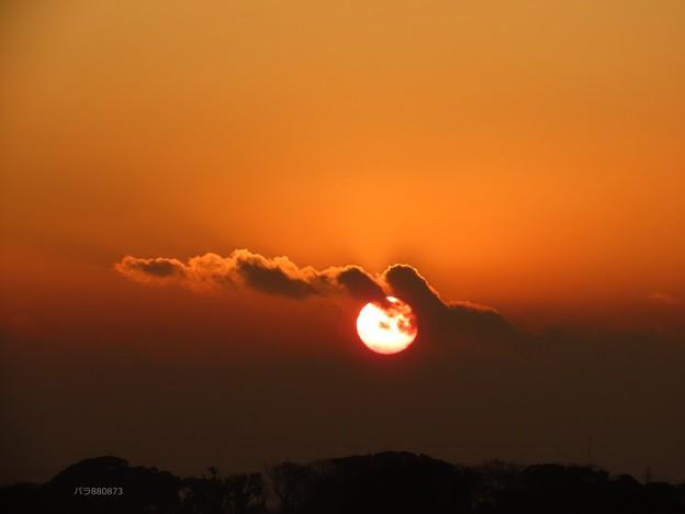 Photos: 朝陽に雲が行く♪