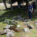 本御射山神社前に沸く泉