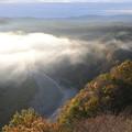 写真: 紅葉と雲海