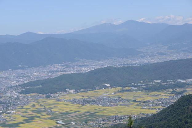 四阿山、根子岳を望む