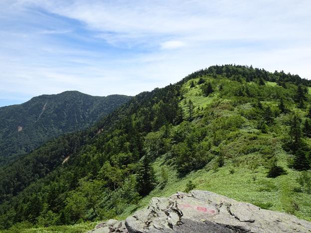 小根子頂上から根子岳、四阿山
