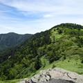 Photos: 小根子頂上から根子岳、四阿山