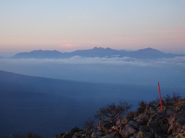 日の出直後の南アルプス