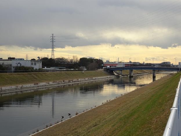 新芝川の流れ