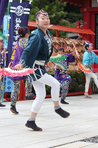 29.7.29宮城縣護國神社仙台すずめ踊り奉納