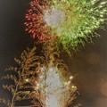 Photos: 灯篭流しで打ち上げられた花火