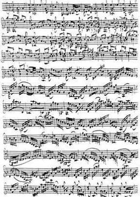 バッハの楽譜のナゾ