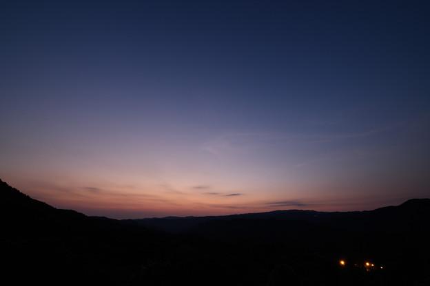 八女郡星野村の夕暮れ