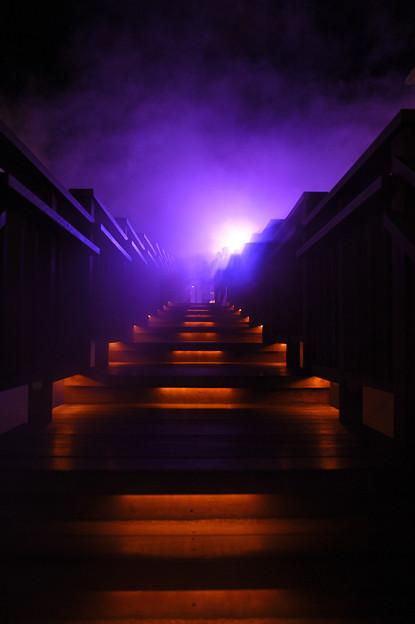 湯煙の階段
