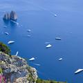 写真: カプリ島ソラーロ山から