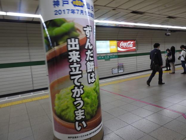 三宮駅/スカイマーク・神戸~仙台便就航記念ラッピング広告