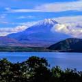 写真: 静岡県・田貫湖と富士山