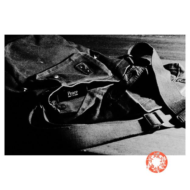 写真: 【第132回モノコン】ガスマスクバッグの中のPeace