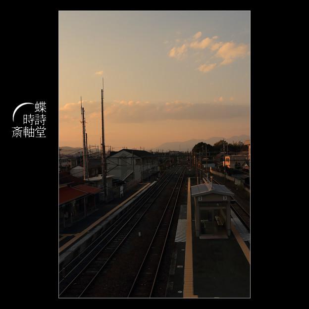 跨線橋からの黄昏