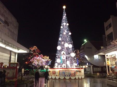 高知市内のクリスマスツリー